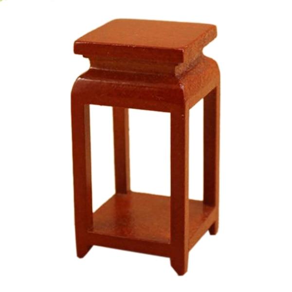 1:12 Dollhouse Miniature Furniture Wood small side tea table