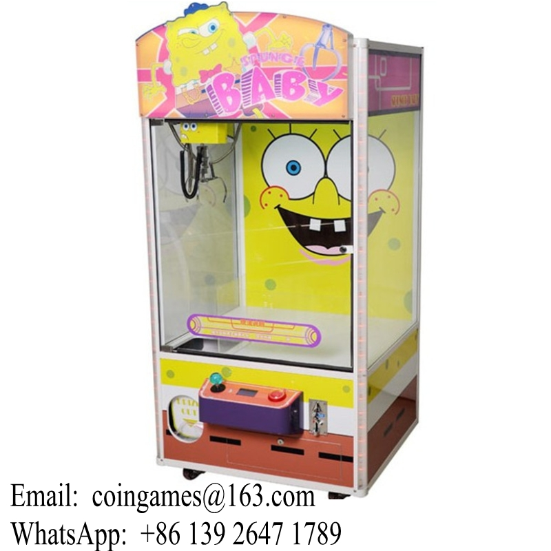 Toy Claw Machine Game : Sponge bob coin operated arcade toy cranes claw machine