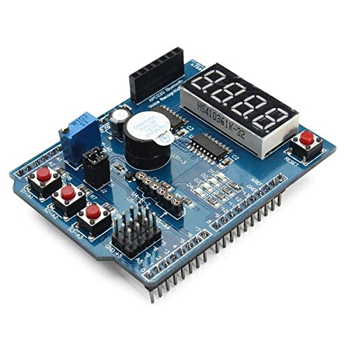 Multi Function Shield with Buzzer <font><b>LM35</b></font> 4 Digit Digital LED Expansion Board Module for Arduino UNO R3 Lenardo Mega2560 image