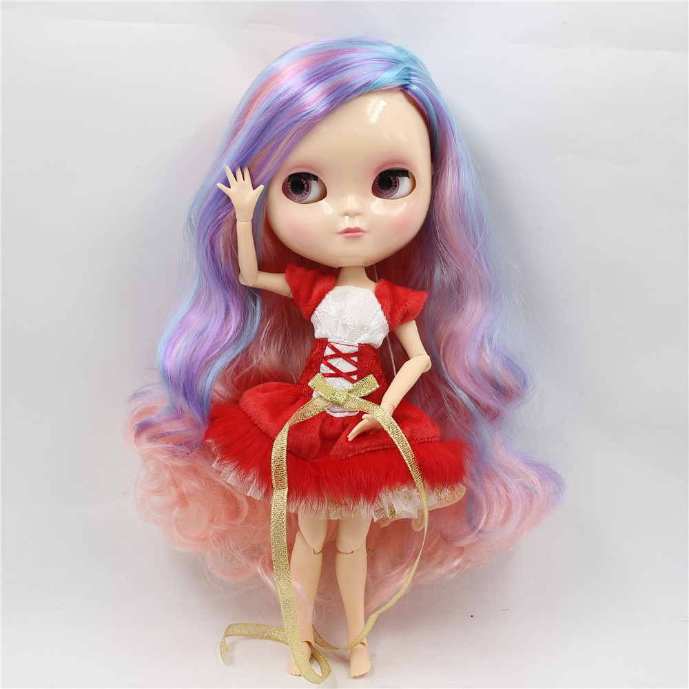 Neo Blythe Doll with Multi-Color Hair, White Skin, Shiny Face & Jointed Azone Body 2