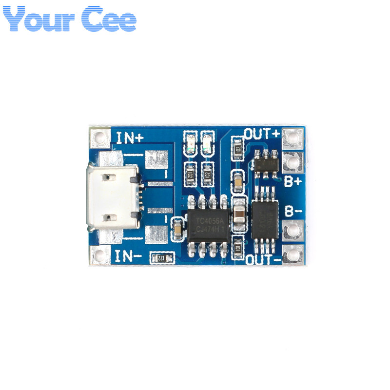 Micro USB 5V 1A 18650 TP4056 Lithium Battery Charger Module Charging Board With Protection Dual Functions 1A Li-ion (3)