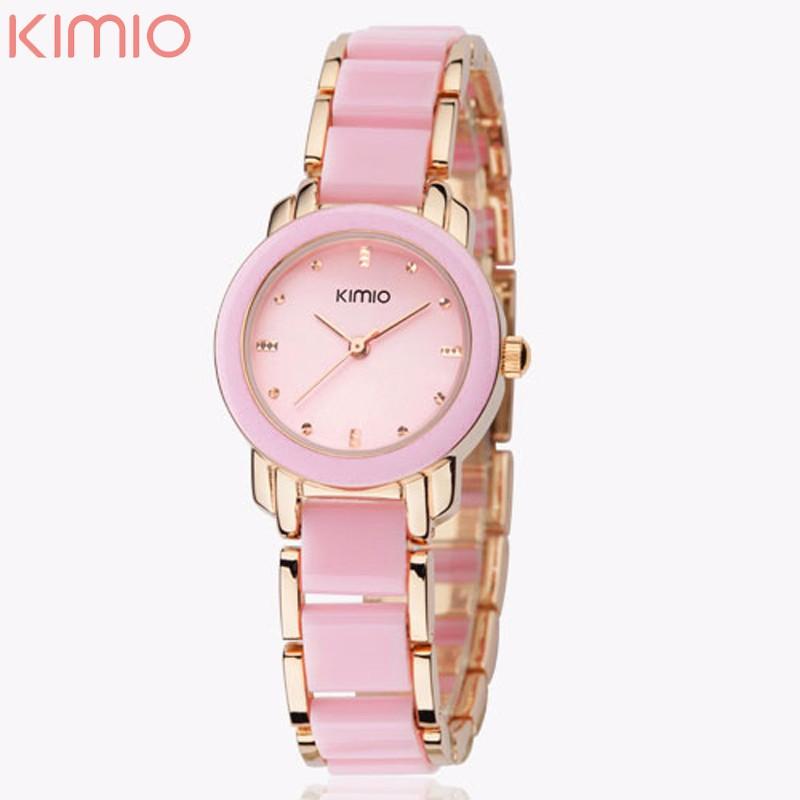 969bceac4b40 2016 новый Eyki Kimio 2016 дамы имитация керамической роскошный золотой  браслет часы с ...