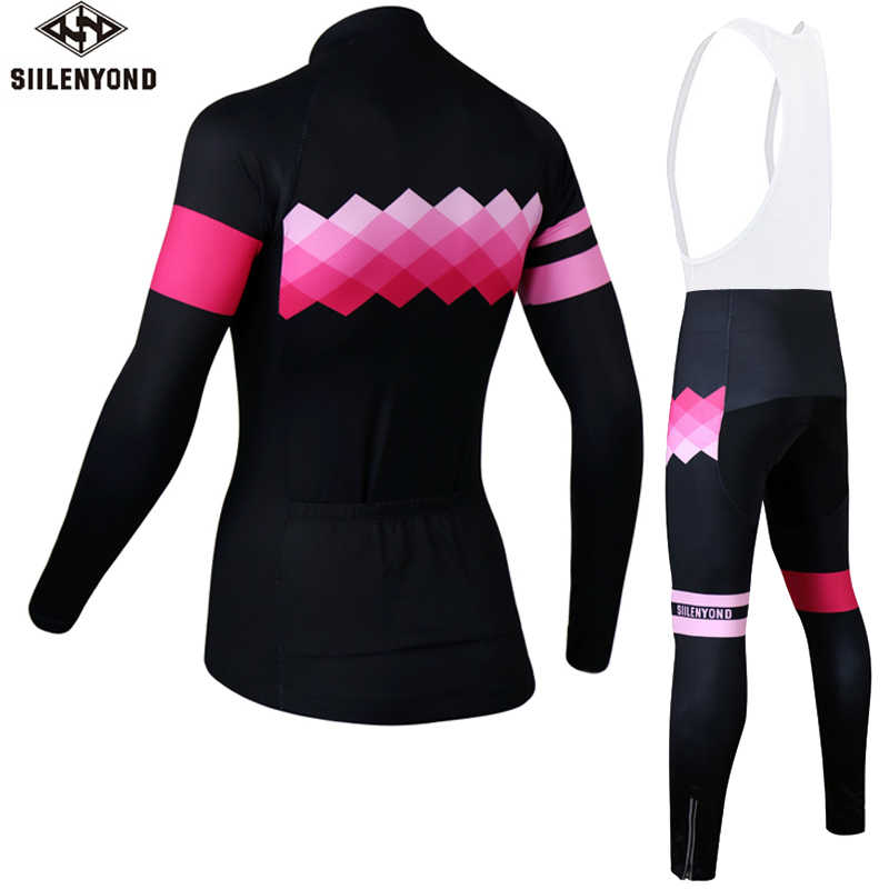 ... Siilenyond Women Winter Cycling Jerseys Long Sleeve Bike Clothing  Maillot Ropa Ciclismo Invierno Thermal Fleece Man ... c830bccb3