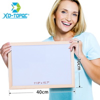 XINDI 30 40cm Free Shipping Dry Erase Magnetic Board Wood Frame Whiteboard Erased Easily Write Repeated