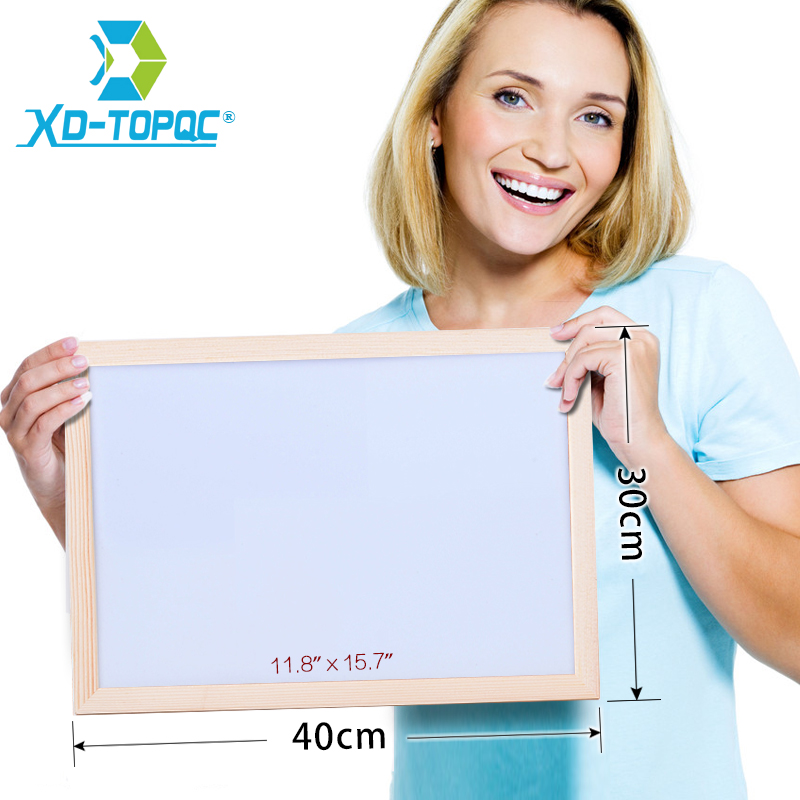 XINDI 30*40cm Free Shipping Dry Erase Magnetic Board Wood Frame Whiteboard Erased Easily Write Repeated Office Supplier WB42