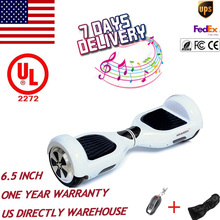 US stock duty free 6.5 inch UL self balance electric scooter 2 wheels smart electric skateboard skywalker unicycle hoverboard