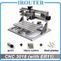CNC3018 withER11, diy מיני cnc חריטת מכונת, לייזר חריטה, Pcb PVC כרסום מכונת, עץ נתב, cnc 3018, הטוב ביותר צעצועים מתקדמים