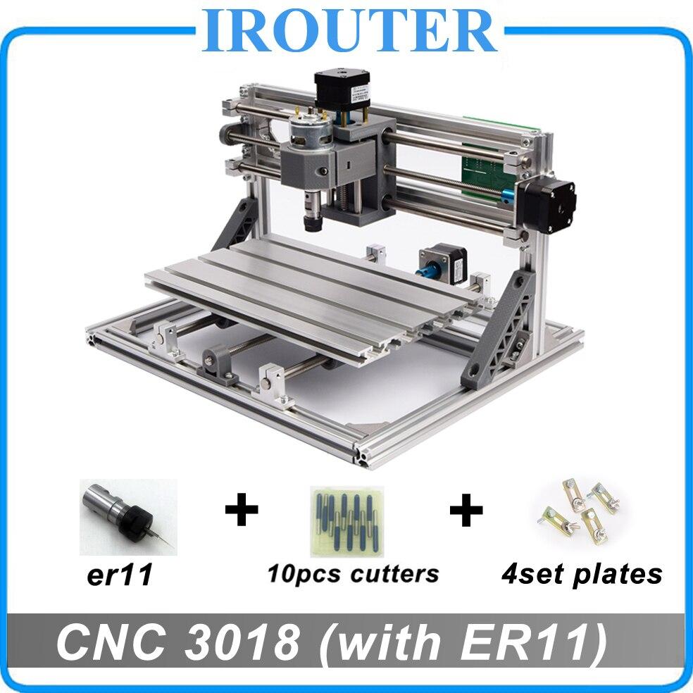 CNC3018 withER11, fai da te mini macchina per incidere di cnc, incisione laser, Pcb PVC Fresatura Macchina, macchina del router di legno, cnc 3018, migliore Avanzata giocattoli