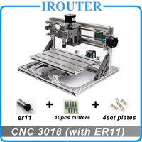 CNC3018 withER11, diy мини ЧПУ гравировальный станок, лазерная гравировка, Pcb ПВХ фрезерный станок, деревянный маршрутизатор, ЧПУ 3018, лучшие продвинут