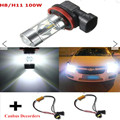 2Pcs Car Cree Chips Led 100W No Error Canbus H11 Fog Lamps Auto Car Led Bulbs+50W Decoders For Mercedes W211 W212 W164 W221