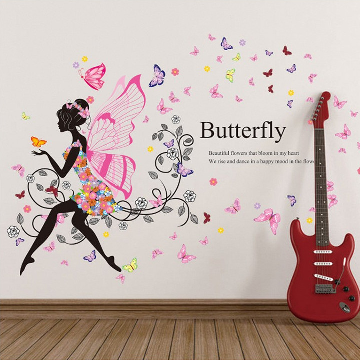 Aliexpress Com 110 122cm Marriage Living Room Tv Background. Girls Bedroom  Wall Stickers Decals Decoration Wallpapers ... Part 29