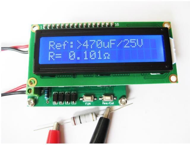 Free Shipping!  Capacitance online detector ESR Tester ESR meter + milliohmmeter module