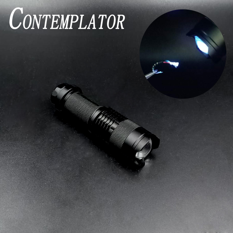 CONTEMPLATOR 395nm LED Purple Fly Fishing Light Ultraviolet Ray Flashlight UV Glue Cure Fly Tying Tools Minnow Eyes Buzzer Head