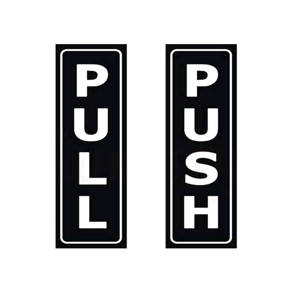 Push Pull Design Custom Stickers