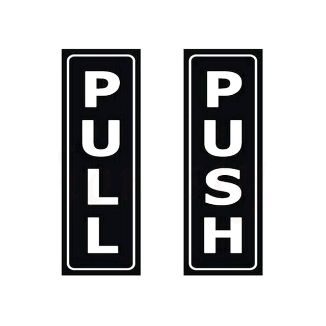 Push Pull Stickers For Glass Doors