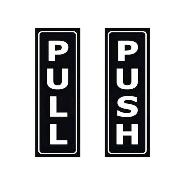 Rylybons 1 Pcs 11.4*12.8cm Push Pull Car Sticker Wall Home ...