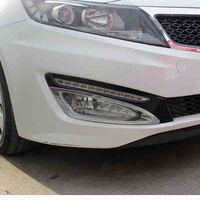 Free Shipping High Quality ABS Chrome Front Fog lamps cover Trim Fog lamp shade Trim For KIA Optima K5