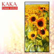 KAKA Cross stitch kits Embroidery needlework sets with printed pattern,11CT canvas,Home Decor for garden House,5D Flowers