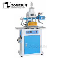 ZONESUN ZY 819C 150x230mm Pneumatic Hot Foil Embosser Machine For Rubber Plastic Wedding Card Leather Personality Individuality