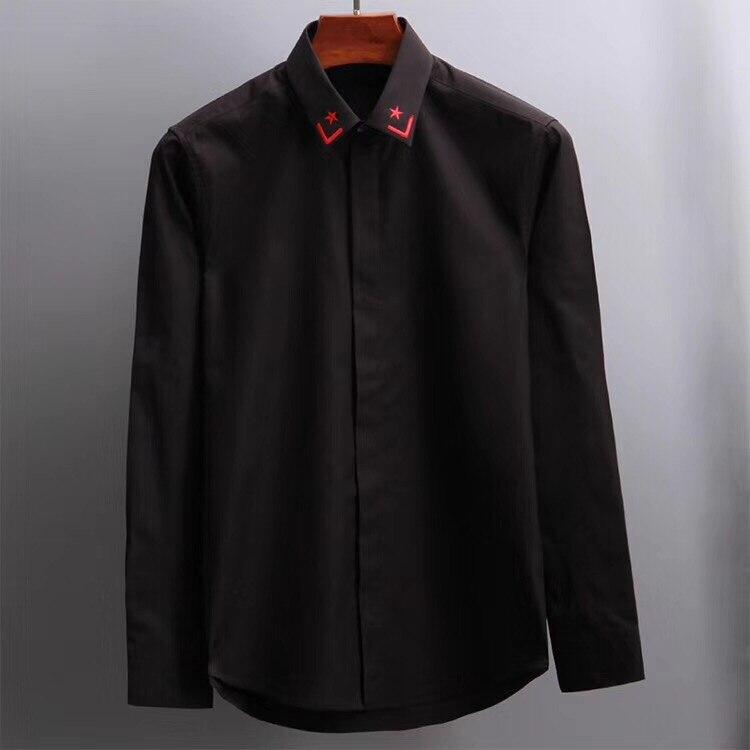 hochwertige beil 2018 Herrenhemd ufige Kleidung d Marke Langarm USGqpLVjMz