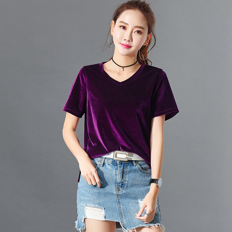 Camisetas Mujer Verano 2019 Short Sleeve Summer Tops For Women T Shirt Korean Tshirt Plus Size V-Neck T-Shirt Tee Shirt Femme