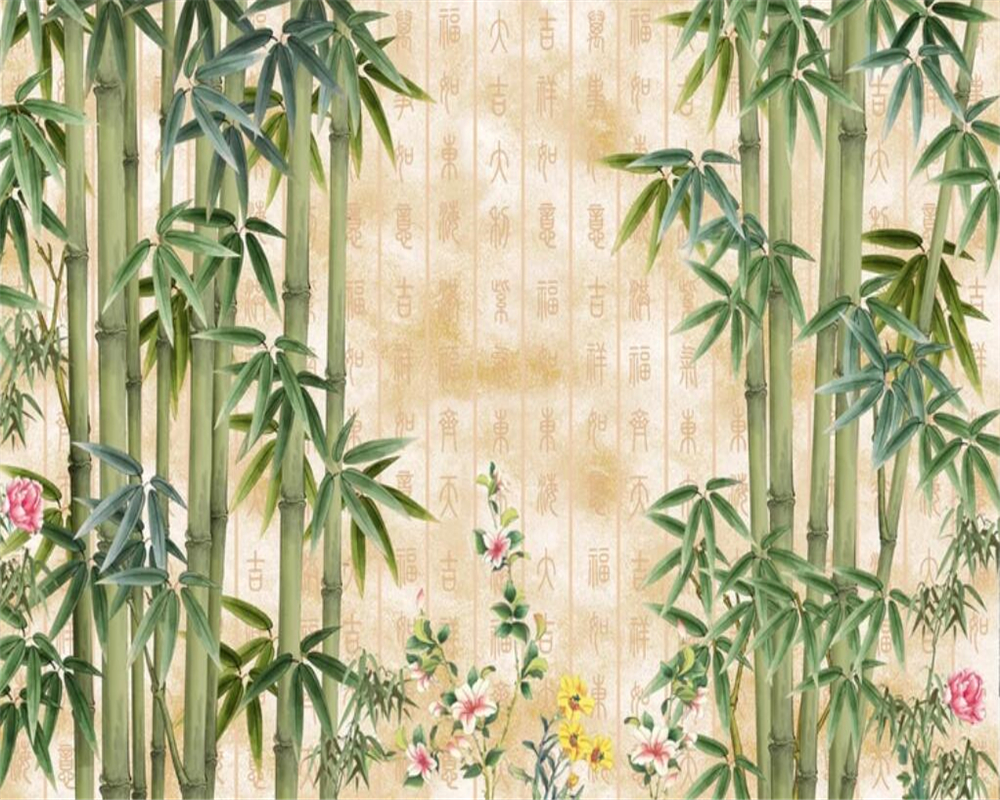 Beibehang Custom Wallpaper Hd Beautiful Bamboo Tv Background Wall