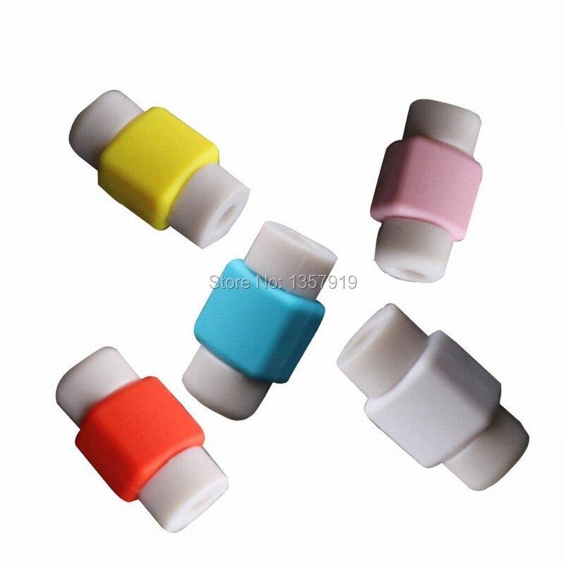 bilder für 1000 teile/los silikon digitale kabelschutz kabel protecotor schutzhüllen kabelaufwicklung abdeckung für iphone ipad