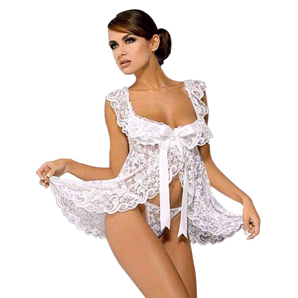 New 4 Colors Hot Plus Size XL XXL XXXL XXXXL 5XL Wedding White Lingerie Babydoll Chemise Nightdress Underwear Sexy Sleepwear 5