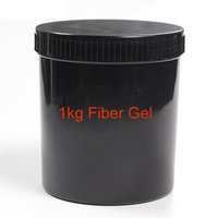 MSHARE Fiber Gel Nail Gel Strengthening Extension Glossy Soak Off UV Nail Gel Varnish 1kg
