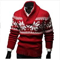 Loldeal Christmas Sweater Men Autumn Jersey Navidad Hombre Jacquard Male Sweater Slim Knitted Men's Sweaters Men Pullovers