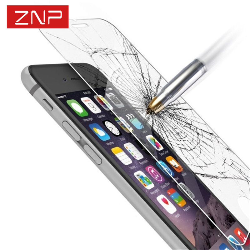 ZNP Tempered Glass For iPhone 6s 6 Plus 7 8 Plus Glass Accessories Protective Glass For iPhone 8 7 6 5s 5 SE 4 Screen Protectors