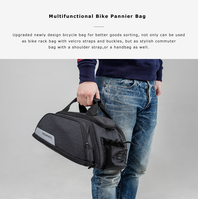 11L ROSWHEEL 141472 Mountain Road Bike Bicycle Cycling Rear Seat Rack Trunk Bag Pack Pannier Carrier Shoulder Bag Handbag in Bicycle Bags Panniers from Sports Entertainment