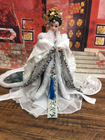 12 Collectible Chinese Dolls With 12 Joints Movable / 3D Eyes Ancient BJD Doll Vintage Oriental Dolls For Girl