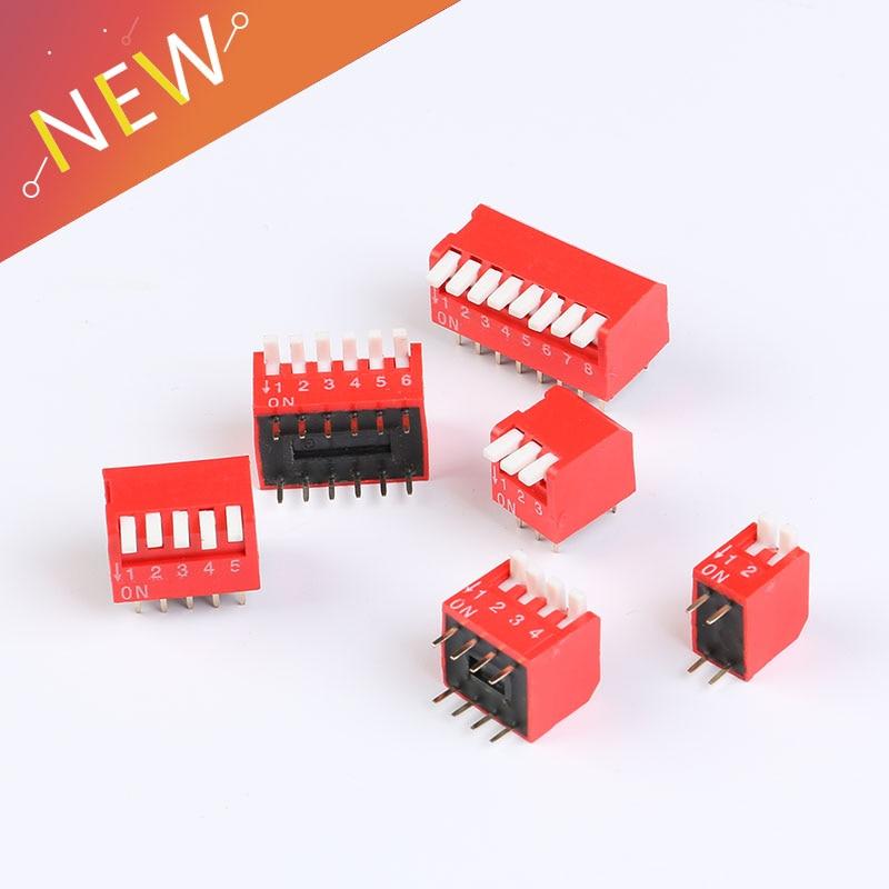 10Pcs Slide Type Switch Module 2.54mm 8-Bit 8 Position Way DIP Blue Pitch AM