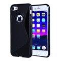 Ultrafinos suave s linha de borracha de silicone transparente capa case para iphone 6 6 s 7/7 plus case casos à prova de choque gel da pele Shell