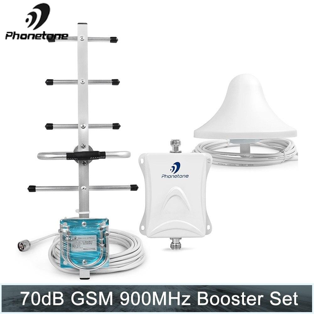 Répéteur de Signal répéteur Gsm 900 Mhz répéteur de téléphone portable amplificateur de Signal celulaire Gsm 900 Mhz répétidor 70dB + Yagi