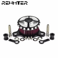 Motorcycle Air Cleaner Intake Filter System Aluminum For Harley Sportster XL 883 1200 48 1991 2017 Auto Air Cleaner Filter