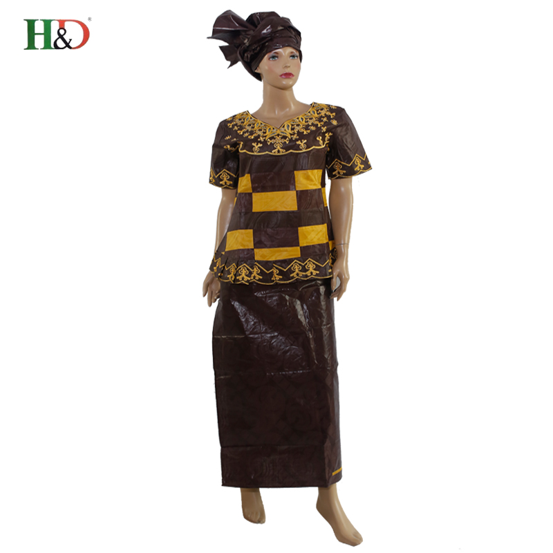 H & D Robe pour les africaine femme Bazin riche traditsioonilised aafrika kleidid naistele100% puuvilla dashiki paar ekspress riided