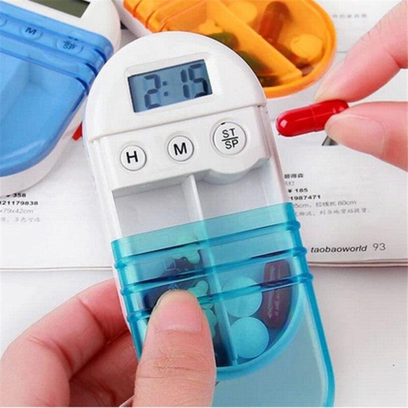 2016 Новинка Портативный электронных лекарства напоминание таймер временный сигнализации Комплект Медицина Планшеты таблетки box