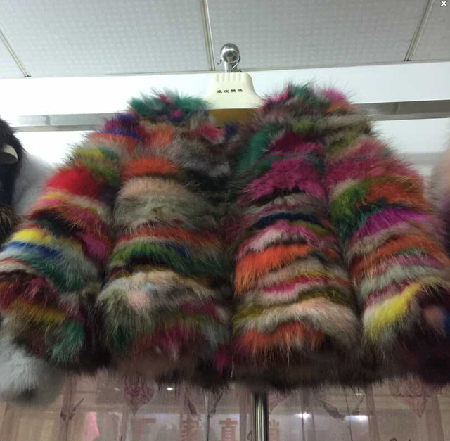Aliexpress.com : Buy Unique 2017 Rainbow Color Fur Coats and ...