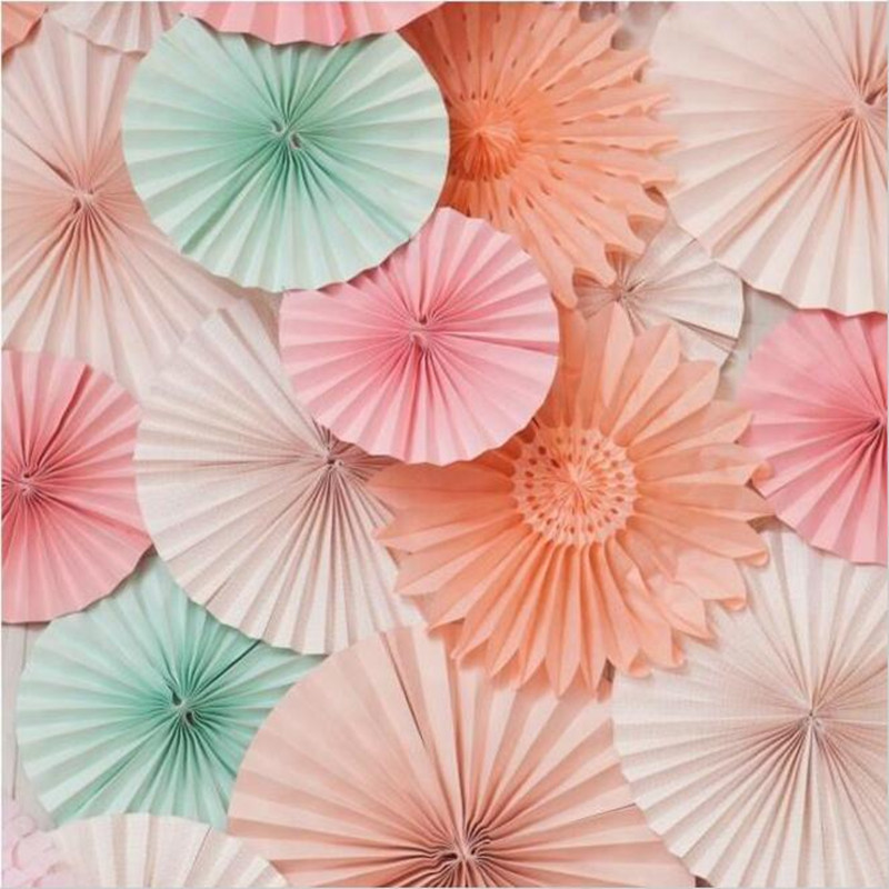 5pcs Lot 12 Inch 30cm Honeycomb Tissue Paper Fans Wedding Birthday Party Decorations Kids Event Supplies Baby Shower In Diy From