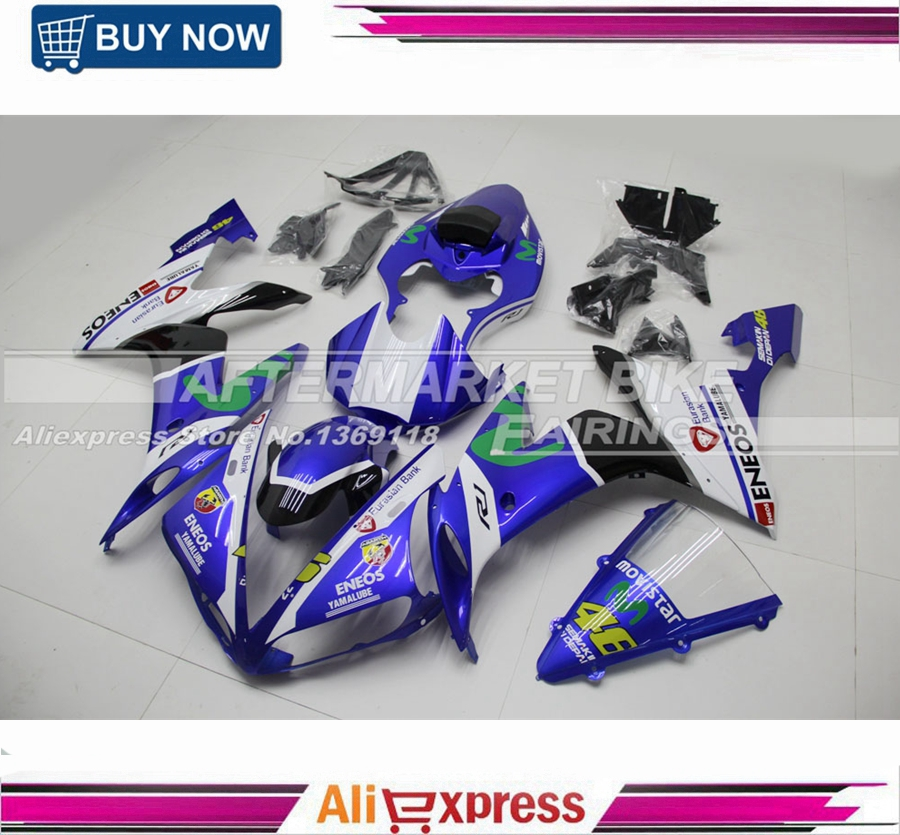 Motorcycle Injection Fairing Bodywork YZF R1 04 05 06 For Yamaha MotoGO Rossi VR46 2004 2005 2006 Fairings Movistar wotefusi black motorcycle injection mold bodywork motorcycle fairing for 2004 2005 2006 yamaha yzf1000 r1 04 05 06 3 [ck813]