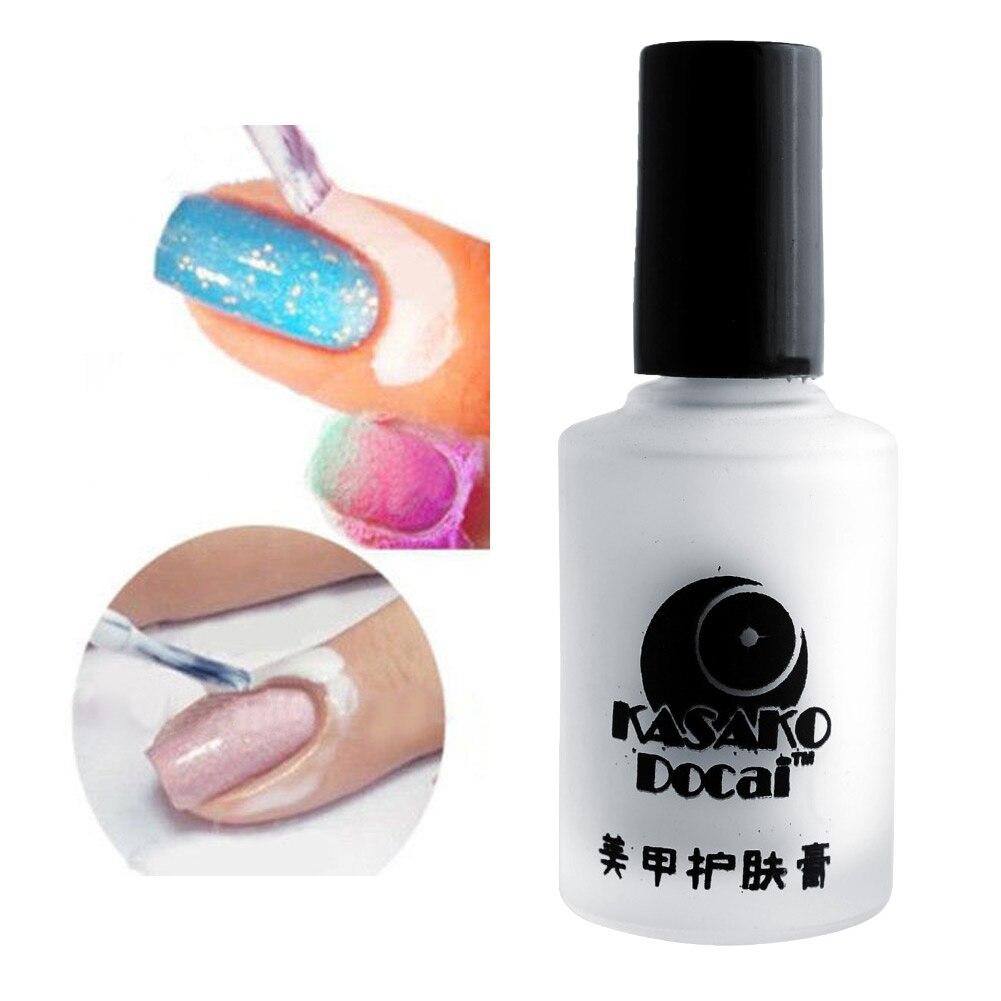 Cream Nail Art: New Fashion 15ml White Peel Off Coat Liquid Tape Cream