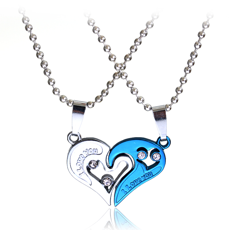 """2pcs Heart Shape """" Love Couple Lovers"""