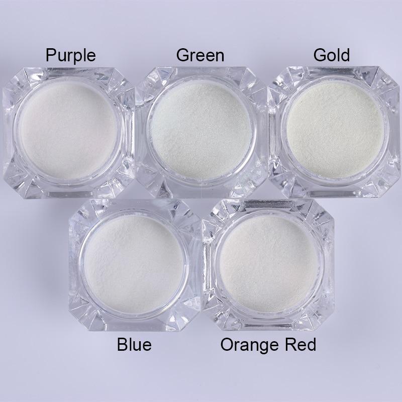 1 коробка жемчужный блеск для ногтей порошок зеркальный матовый эффект блеск Лазерная пыль Маникюр мерцающий пигмент украшение для ногтей