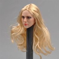 1/6 Scale Beauty Girl Headplay Golden Hair Female Head Sculpt for 12 inches HT PH Action Figure