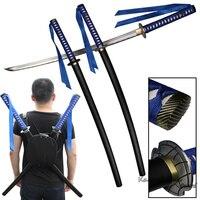 Mão forjado gêmeo katana para filme tartaruga ninja 1045 aço carbono tang completo com alça saco nitidez-real samurai espada