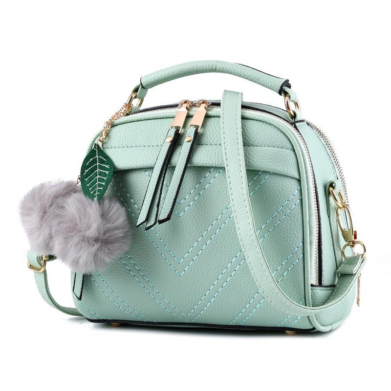 купить Fashion Elegant PU Women Shoulder Bag Light Green Small Lady Handbag Cusual Crossbody Messenger Zipper по цене 3313.16 рублей