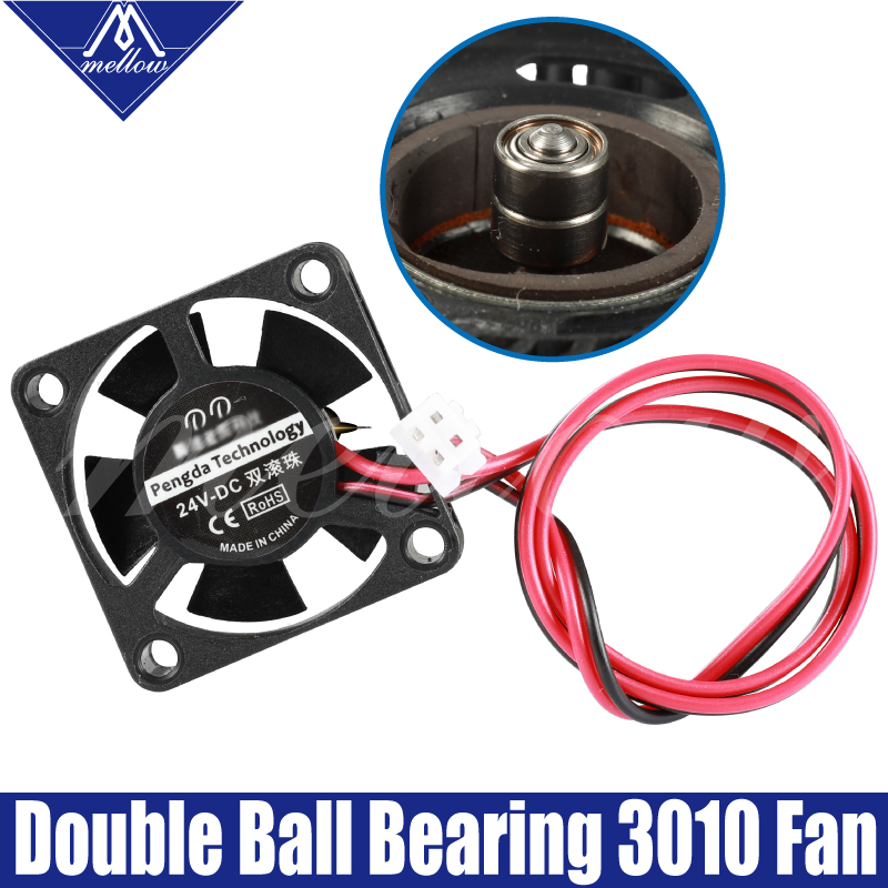 12V/24V V6/V5 Radiator Dual Ball Bear 3010 Fan 30*30*10mm 3010s DC Small Fan Cooling Extruder 3d Printer Accessories Parts