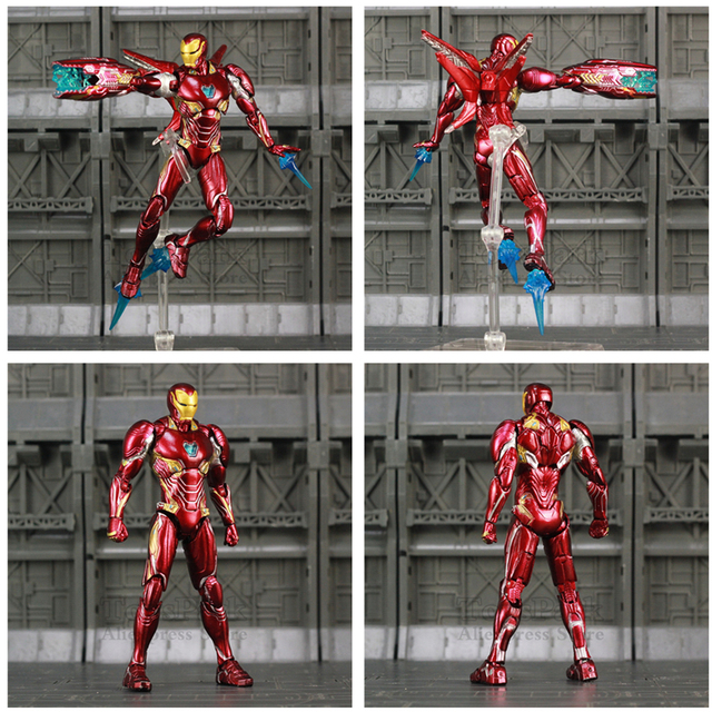 Iron Man Action Figure Mark 50 Version 2 with Infinity Gauntled 6inch 1